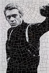Steve McQueen by David Arnott - Original Mosaic sized 24x35 inches. Available from Whitewall Galleries